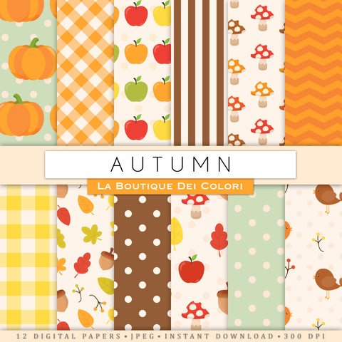 Autumn Digital Paper - La Boutique Dei Colori
