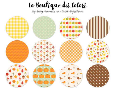 Autumn Circles Clipart - La Boutique Dei Colori