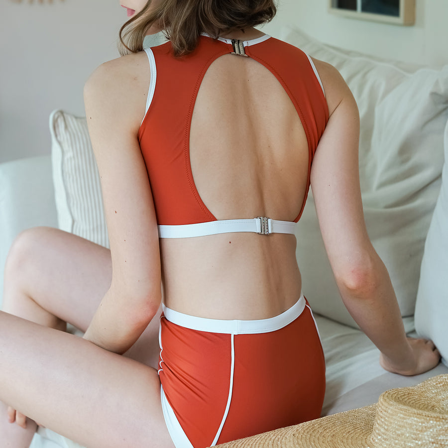 Primary high-waist bottom - ORANGE