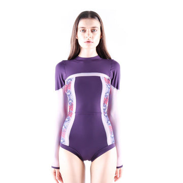 Tracker suit - PURPLE/PRINT