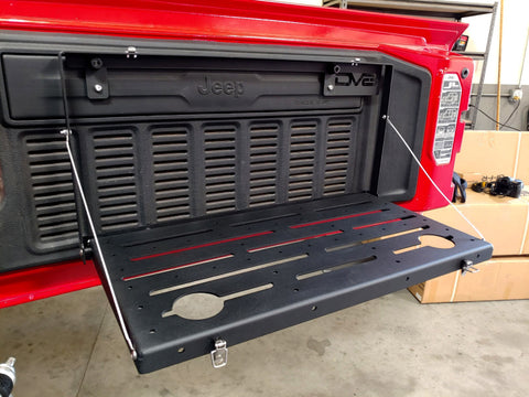 DV8 Jeep JL Tailgate Mounted Table (Trail Table) - Black freeshipping - Speedzone Performance LLC