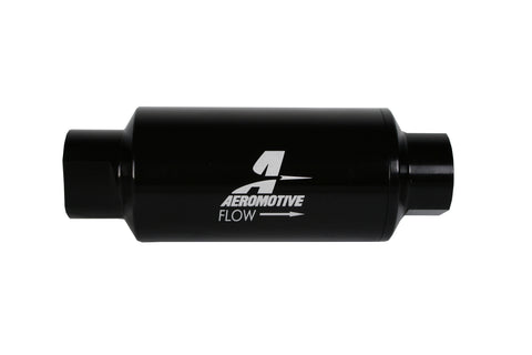 Aeromotive In-Line Filter 10AN 10 Micron Microglass Element Bright-Dip Black 2in OD