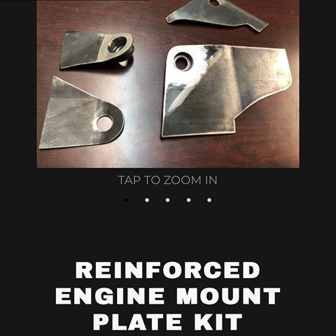 Reinforced engine mount plate kit