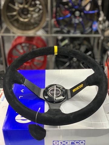 Sparco Inspired Suede Steering Wheel
