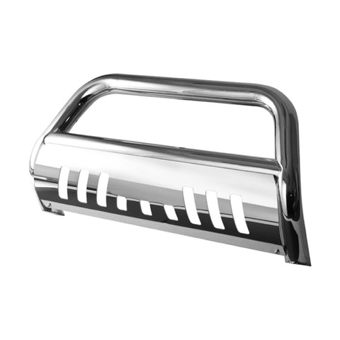 Xtune Chevy Silverado 07-13 1500Ld 3 Inch Bull Bar T-304 Stainless Steel Polished BBR-CS-A02G0407 freeshipping - Speedzone Performance LLC