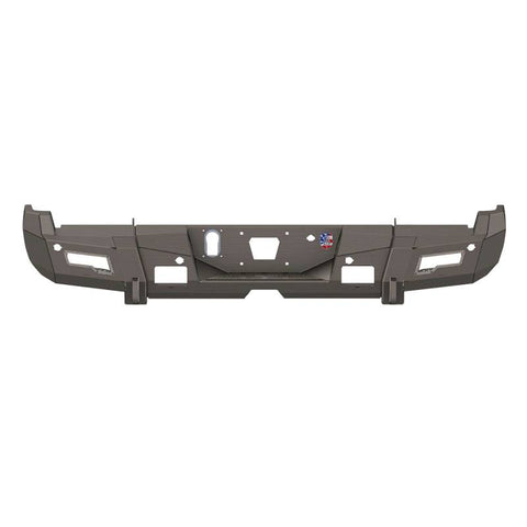 Road Armor 17-20 Ford F-250 iD Rear Bumper w/Center Section/Shackle/End Pods/Ring/Accents - Raw