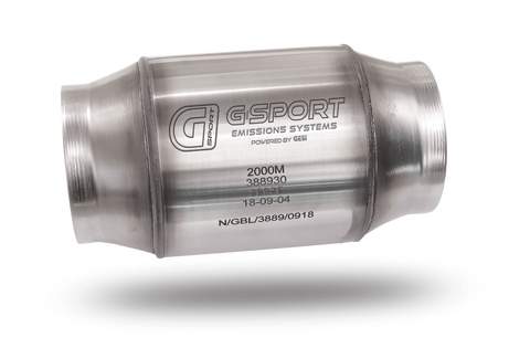GESI G-Sport 300 CPSI EPA Approved 2.5in Inlet/Outlet x 4in Dia Body x 7in OAL Catalytic Converter