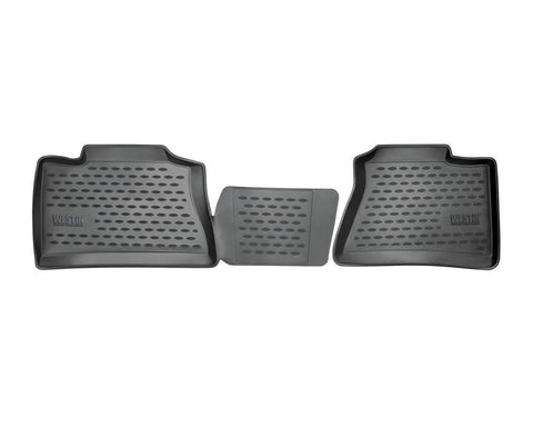 Westin 13-18 Ram 1500/2500/3500 Crew Cab Profile Floor Liners 2nd Row - Black freeshipping - Speedzone Performance LLC