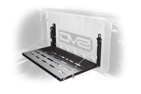 DV8 Jeep JK Tailgate Mounted Table (Trail Table) - Black freeshipping - Speedzone Performance LLC