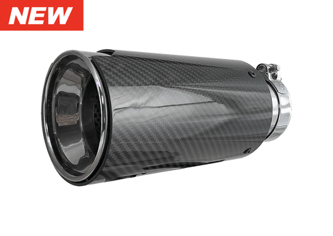 HD Off-Road Wheels Exhaust Tips HD Off-Road Polished Stainless Steel & Carbon Fiber Universal Exhaust Tips