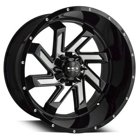 HD Off-Road Wheels Truck & SUV Wheels HD Off-Road Wheels SAW | Gloss Black with Milled Face