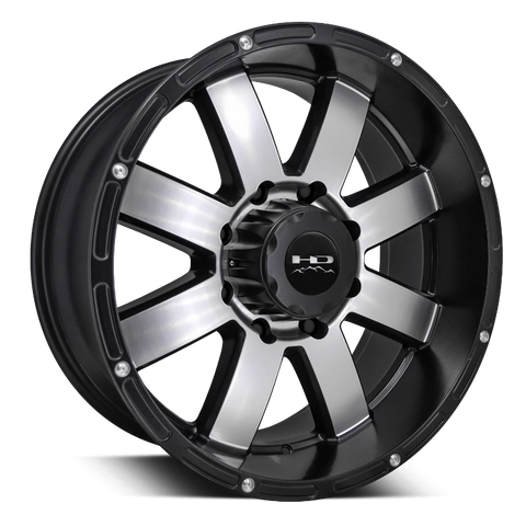 HD Off-Road Wheels Truck Wheels 20x9.0 | 5x127 | et0mm | 5.0in | 71.5mm HD Off-Road 8-Point Wheels | Satin Black Machined Face | JEEP®