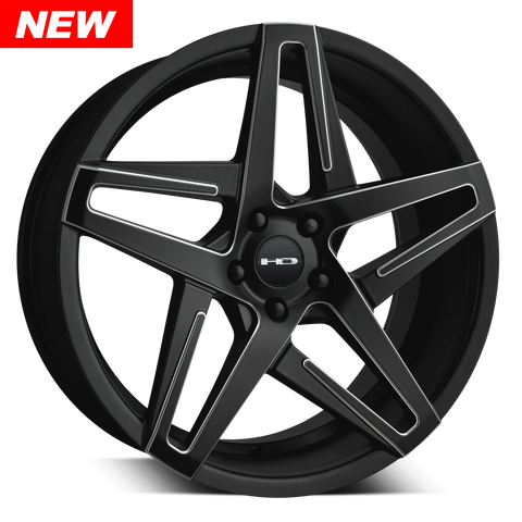 HD Wheels Passenger Car Wheels HD Wheels Hairpin | Satin Black with Milled Edges