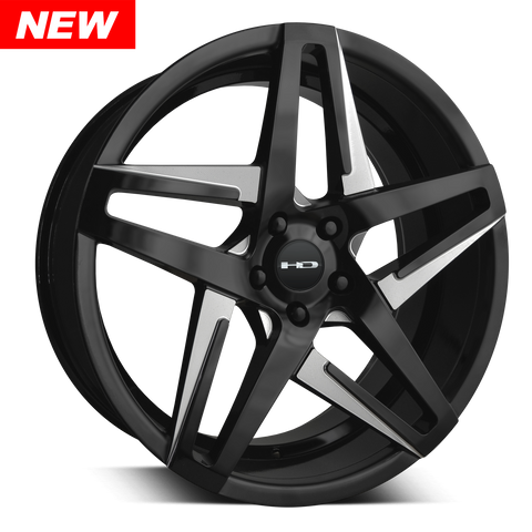 HD Wheels Passenger Car Wheels HD Wheels Hairpin | Satin Black with Milled Face