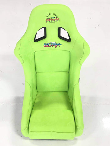 NEW LIME GREEN NRG PRISMA ULTRA LARGE SEAT + SIDE MOUNTS + SLIDER freeshipping - Speedzone Performance LLC