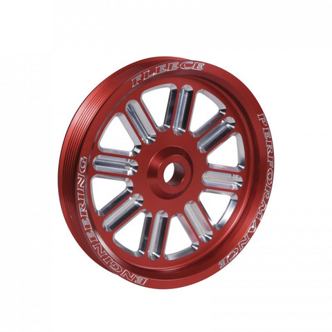 Fleece Performance Dodge Cummins Dual Pump Pulley (for use with FPE dual pump bracket) Red