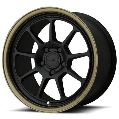 Motegi MR135 Matte Black w/ Bronze Lip