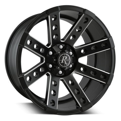 Remington Off-Road Truck Wheels 20x10.0 | 6x135/6x139.7 | et-25mm | 4.0 in | 106.2mm Remington® Off-Road Wheels Buckshot Truck | Satin Black Milled