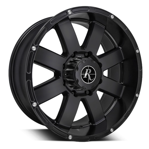Remington Off-Road Truck Wheels 20x9.0 | 5x127 | et0mm | 5.0in | 71.5mm Remington Off-Road Wheels 8-Point Truck | All Satin Black