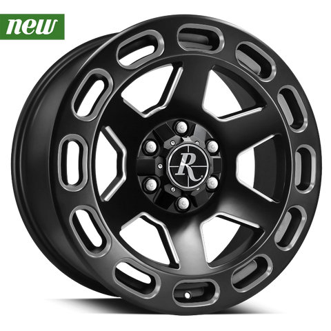 Remington Off-Road Truck Wheels 20x9.0 | 6x135/6x139.7 | et0mm | 5.0 in | 106.2mm Remington® Off-Road Wheels Patriot Truck | Satin Black Machined