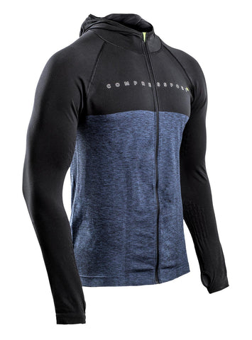 3D THERMO SEAMLESS ZIP HOODIE - BLACK EDITION 10