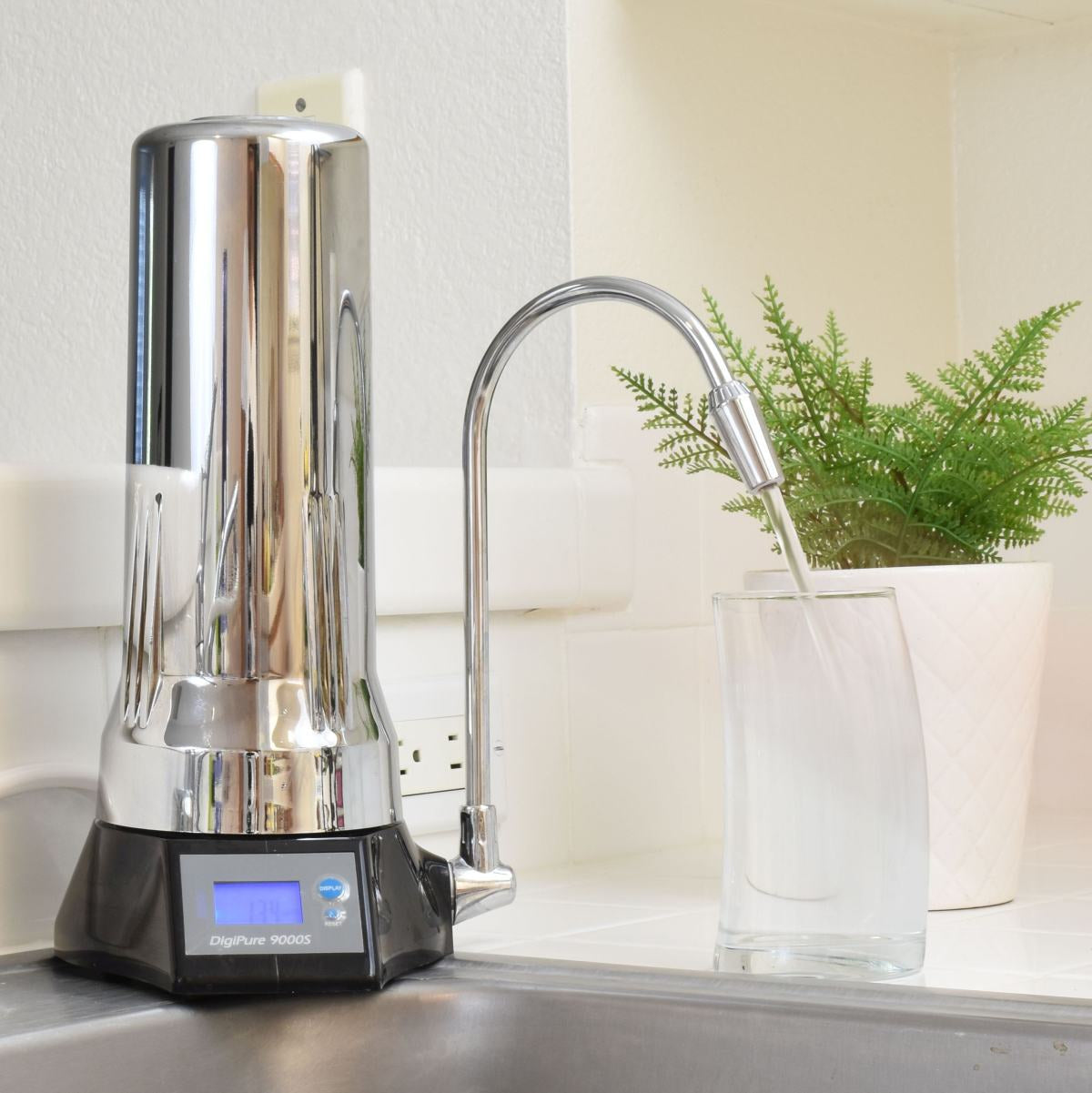 Clearance Half Price Sale - Open Box - DigiPure Smart Water Filter System with LCD display & Alarm