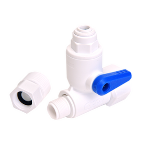 "Feed Water Adapter Valve - 1/4"" Quick Connect, Angle Stop"