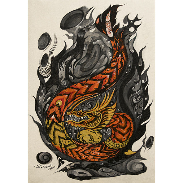 Dragon on Fire