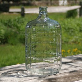 three gallon glass carboy (demijohn) made in Italy
