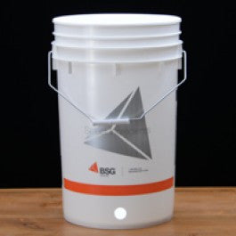 Six and one half gallon brewing bucket with  hole