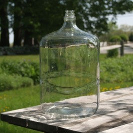 six and one half gallon glass carboy (demijohn) made in Italy