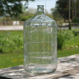Six gallon glass carboy (demijohn) made in Italy