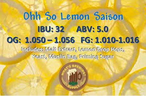 Ohh So Lemon Saison Ingredient Kit