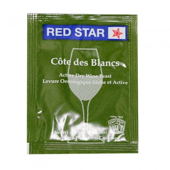 Red Star Cote de Blanc Wine Yeast, 5 gm