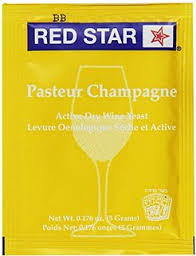 Red Star Pasteur Champagne Wine Yeast, 5 gm