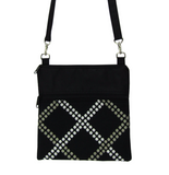 Black Dot Weave with Black Nylon Mini Square Crossbody Bag by Tutenago