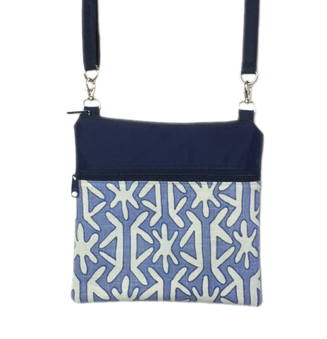 Navy Star with Waterproof Navy Nylon Mini Square Crossbody Bag by Tutenago