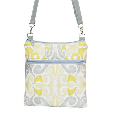 Mystery in Yellow | Light Grey Nylon | Mini Square