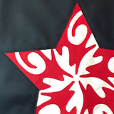 Patriotic Star Applique in Red and White on Womens Bucket Bag