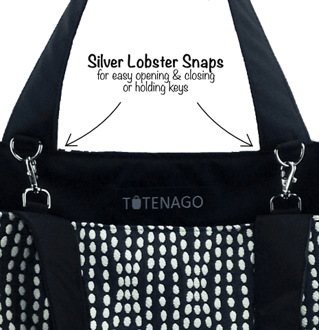 678e35c5d611 ... A large customizable reusable shopping bag  Lobster Snaps in an Tutenago  Essential Tote  Nylon ...