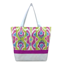 Load image into Gallery viewer, Lombrok with White Nylon and Pink Ribbon Ready-To-Ship Essential Tote Bag by Tutenago - The perfect women's oversized tote bag for work, beach, shopping or an everyday bag.