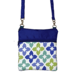 Novia in Blue & Green with Blue Nylon Mini Square Crossbody Bag by Tutenago