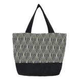 Black Wavy Dot Essential Tote Bag by Tutenago - The perfect women's oversized tote bag for work, beach, shopping or an everyday bag.