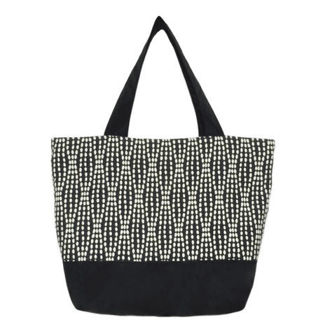 e250cb800fc7 Black Wavy Dot Essential Tote Bag by Tutenago - The perfect women s  oversized tote bag for