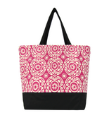 Soleil in Pink | Black Nylon | Large | RTS Essential Tote