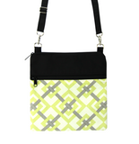 Yellow Squared with Black Waterproof Nylon Ready-To-Ship Mini Square Crossbody Bag by Tutenago