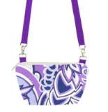 Swirled Paisley Purple with Purple Nylon Traveler Bum Bag and Small Crossbody Purse by Tutenago