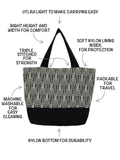 Anatomy for Mini Square in Tutenago Essential Tote Bag Set for Women - A large customizable beach bag and wet bag set
