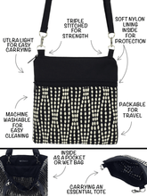 Load image into Gallery viewer, Anatomy of a Min Square crossbody bag with Essential Tote Bag by Tutenago