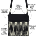 Anatomy of a Mini Square Cross Body Purse or Wet Bag by Tutenago